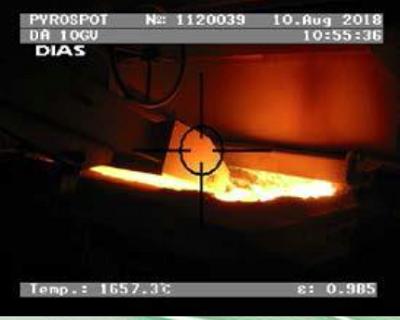 DA10G, DA10GV, 高精度玻璃表面红外测温仪, 75-2500°C